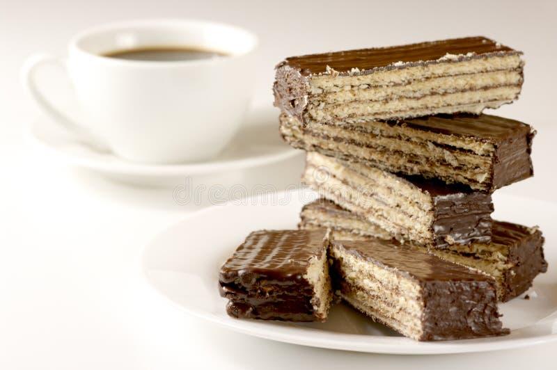 czekoladowy kawowy opłatek obrazy stock