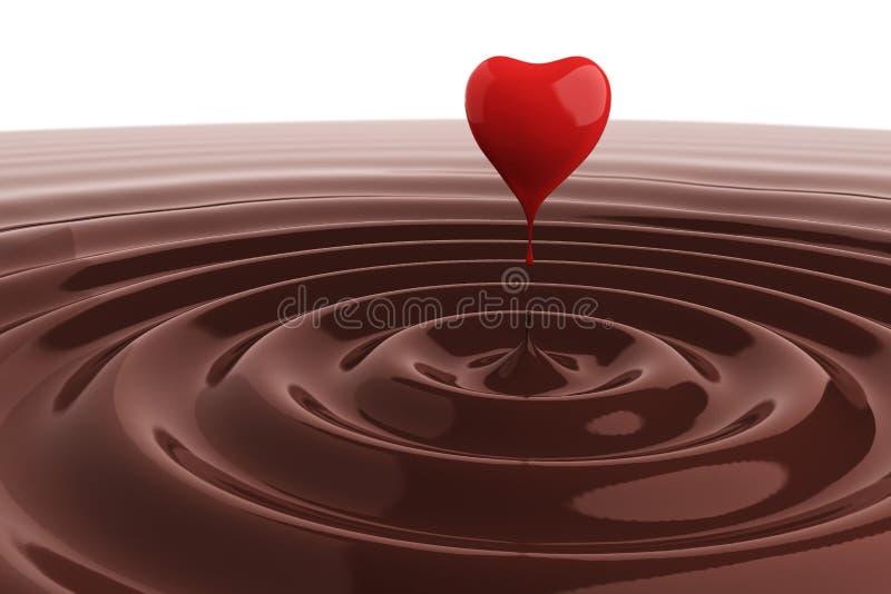 czekoladowy kierowy gorący royalty ilustracja