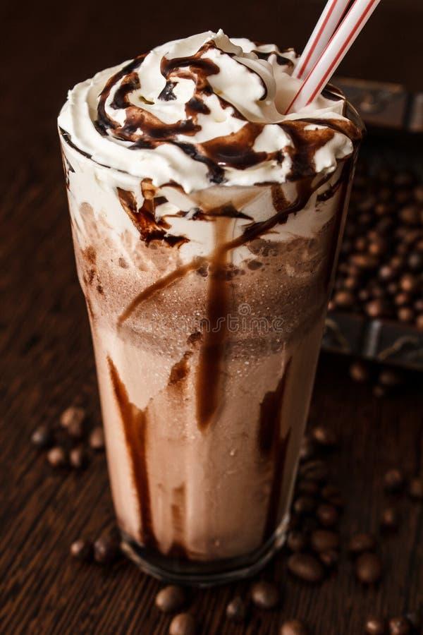 Czekoladowy milkshake obrazy royalty free