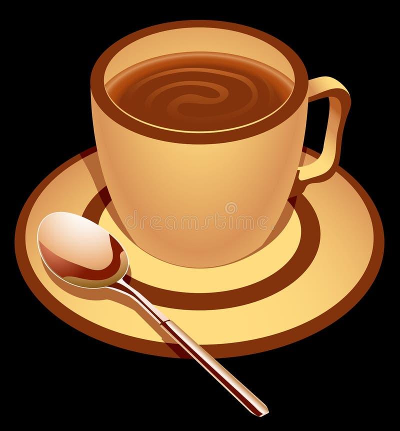 czekoladowy napój royalty ilustracja