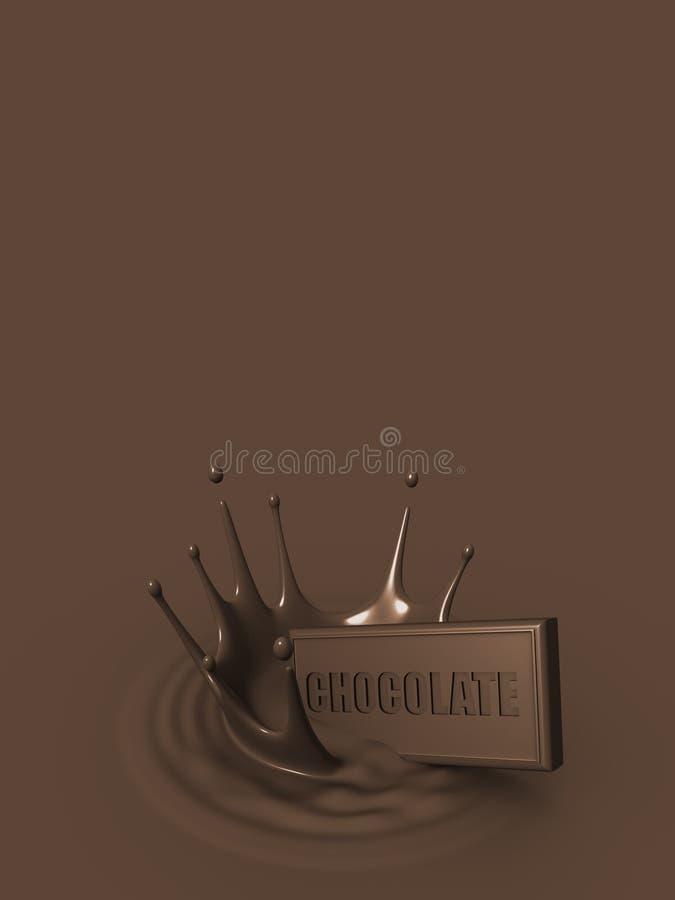 czekoladowy pluśnięcie ilustracji