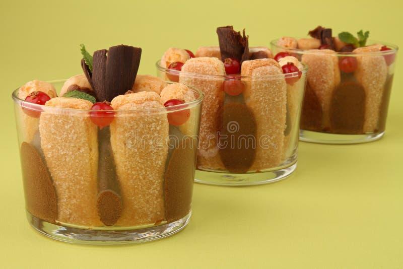 czekoladowy porzeczkowy deserowy mousse fotografia royalty free