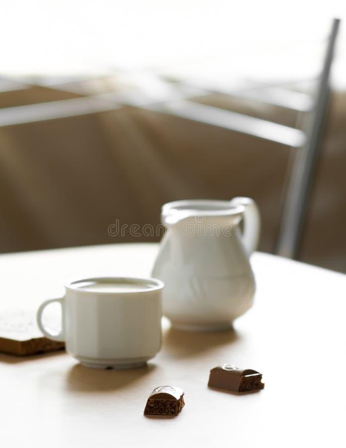 czekoladowy rano kawy zdjęcie royalty free