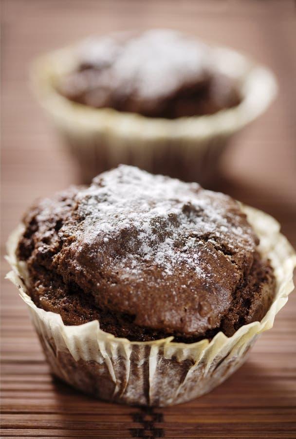 czekoladowy słodka bułeczka obrazy stock