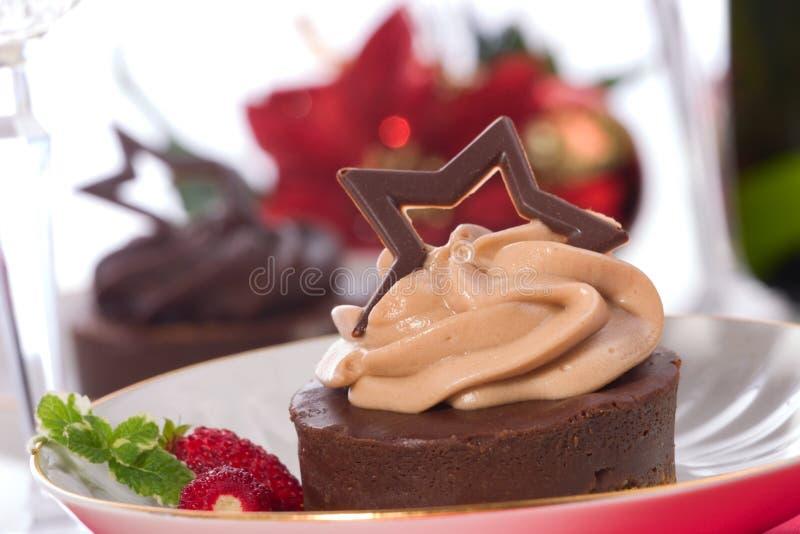czekoladowy sernik obrazy stock
