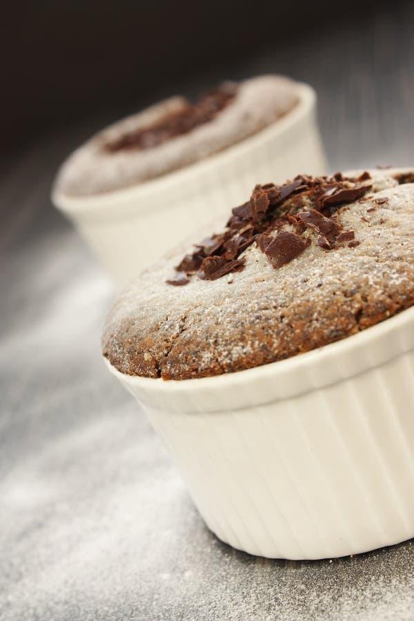 czekoladowy souffle zdjęcia royalty free