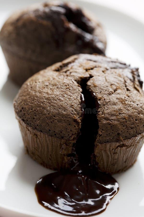 czekoladowy souffle fotografia royalty free