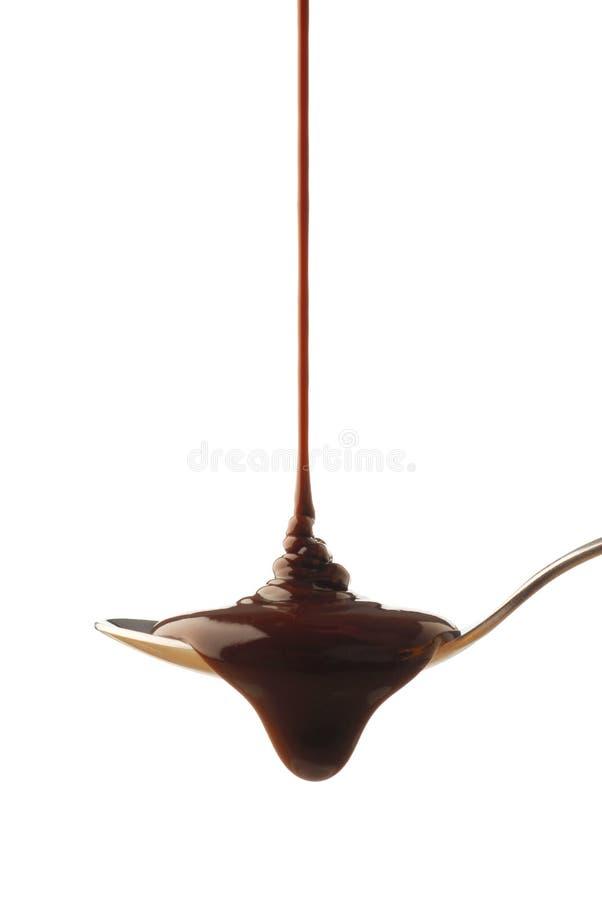 czekoladowy syrop zdjęcia stock