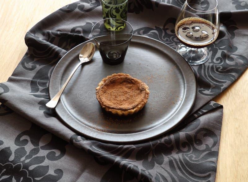czekoladowy tarta fotografia stock