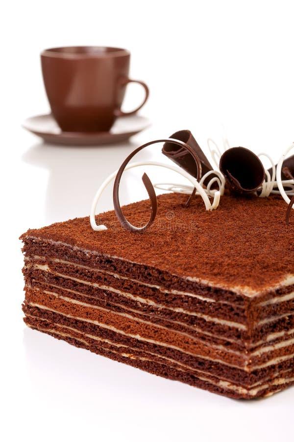 Czekoladowy tort, obraz stock