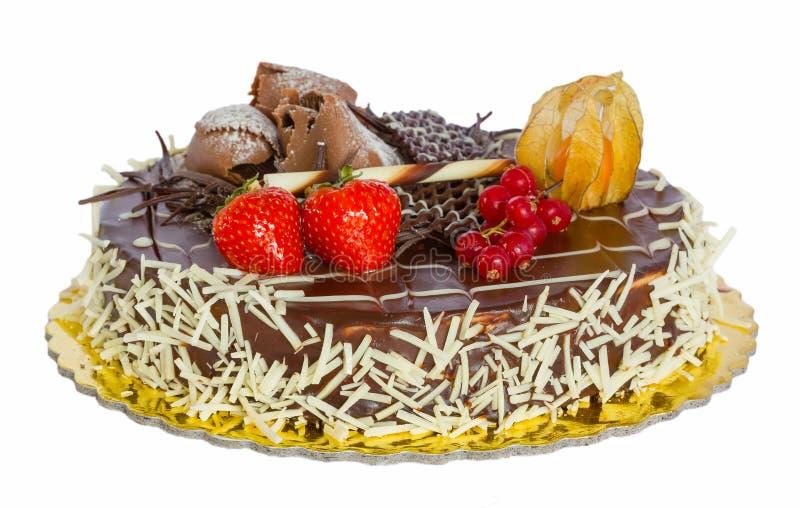Download Czekoladowy Tort Odizolowywający Zdjęcie Stock - Obraz złożonej z desery, świętuje: 28955402