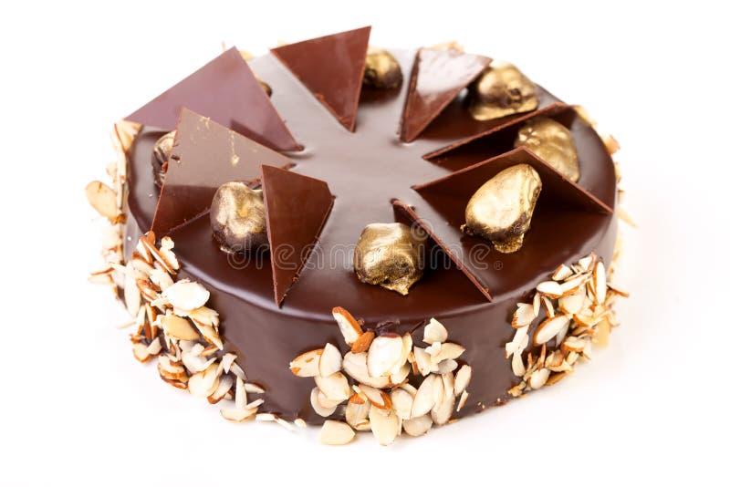 Czekoladowy tort, odosobniony zdjęcie stock