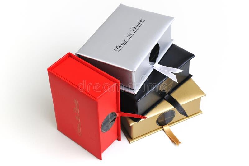 Czekolady i praline pudełko fotografia stock