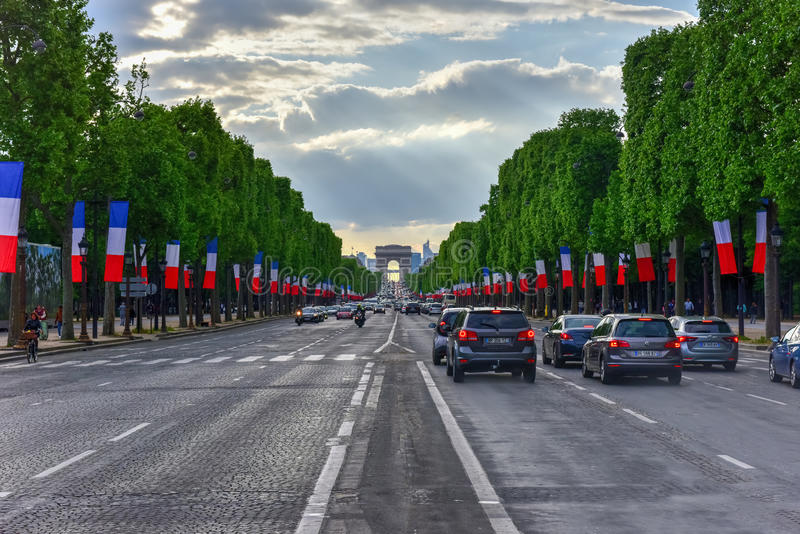 Czempion Elysees, Paryż -, Francja zdjęcia royalty free