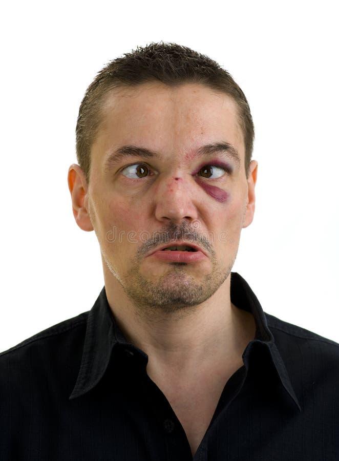 czerń łamający zaginający krzyżujący oczu nos zdjęcie royalty free