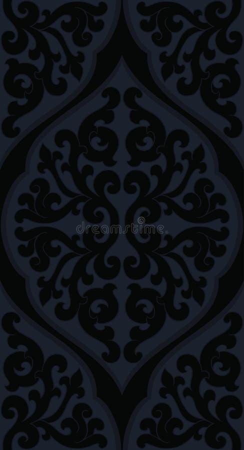 czerń abstrakcjonistyczny wzór ilustracja wektor