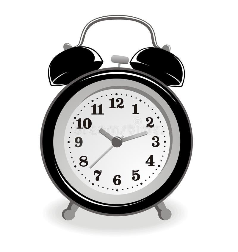 czerń alarmowy zegar royalty ilustracja