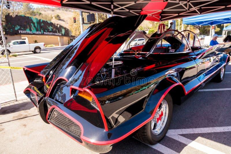 Czerń 1966 Batmobile i czerwień fotografia royalty free