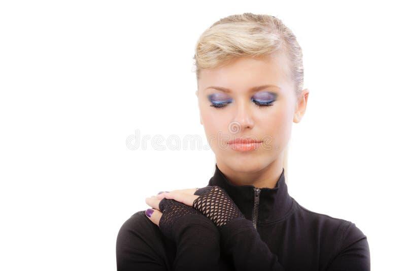czerń blondynka na ślepo odziewa obrazy stock