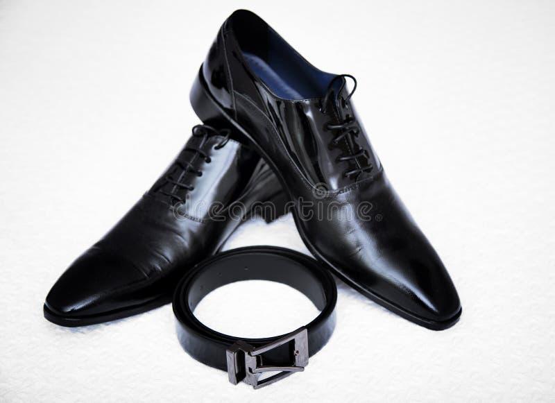 Czerń butów mężczyzna obrazy royalty free