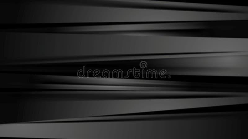 Czerń gładkich lampasów korporacyjny abstrakcjonistyczny tło ilustracji