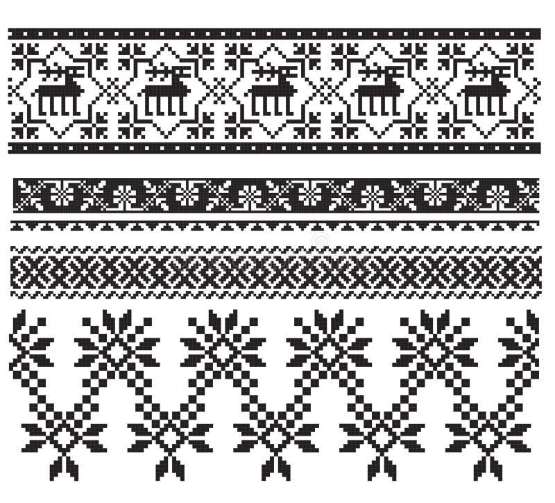 czerń haftuje rosyjskiego ukrainian ilustracji