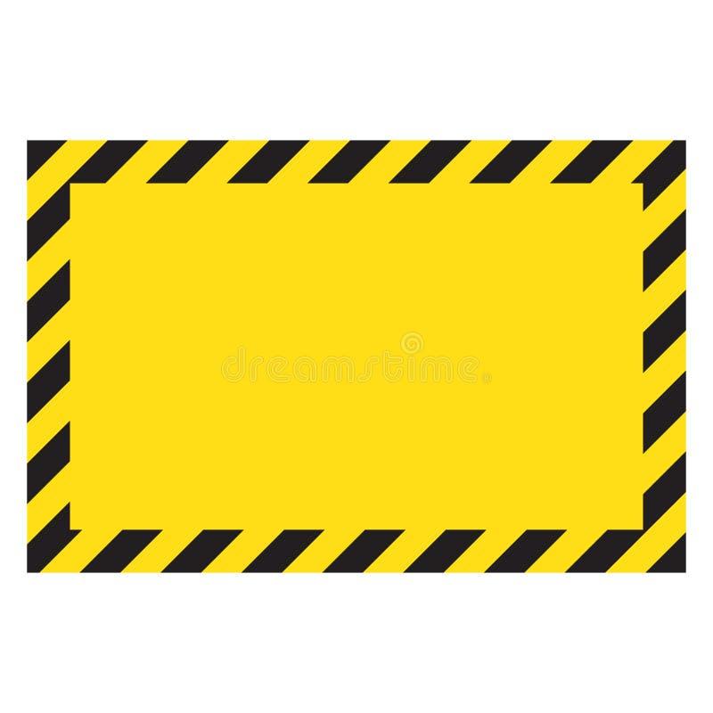 Czerń i żółta ostrzegawcza linia paskowaliśmy prostokątnych tła, koloru żółtego i czerni lampasy na przekątnie, ostrzeżenie być o ilustracja wektor