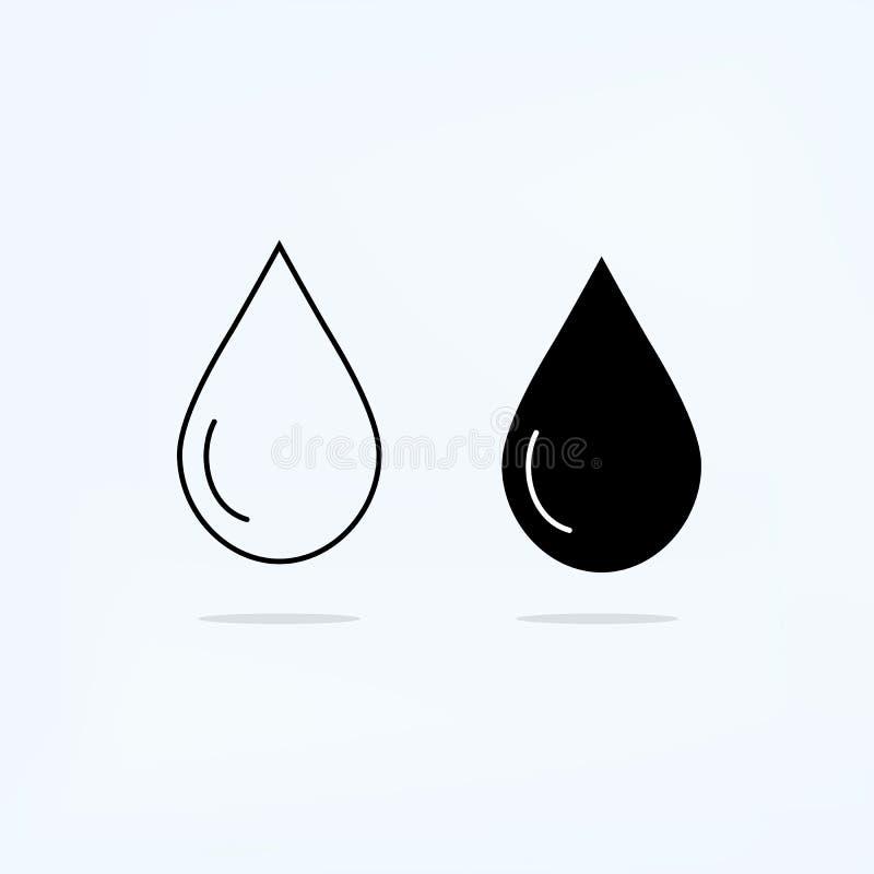 Czerń i cienieje linii kroplę royalty ilustracja