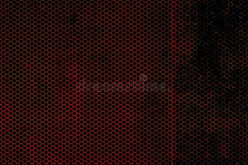 Czerń i czerwona kruszcowa siatki tła tekstura ilustracji