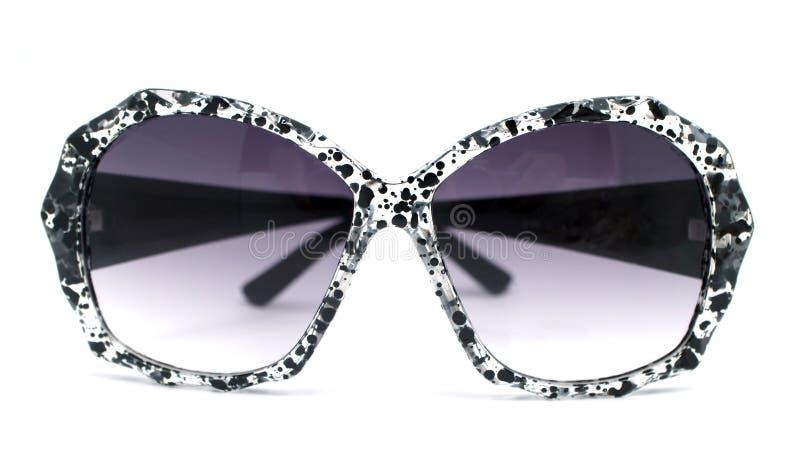 Czerń i jasnego pluśnięcia farby splatter deseniujemy okulary przeciwsłonecznych zdjęcia royalty free
