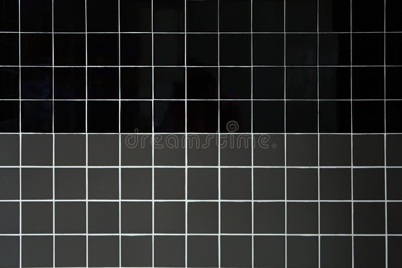 Czerń i szare ceramiczne płytki obrazy stock