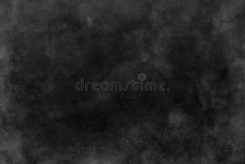Czerń i zmrok - szara akwareli tekstura, tło ilustracji