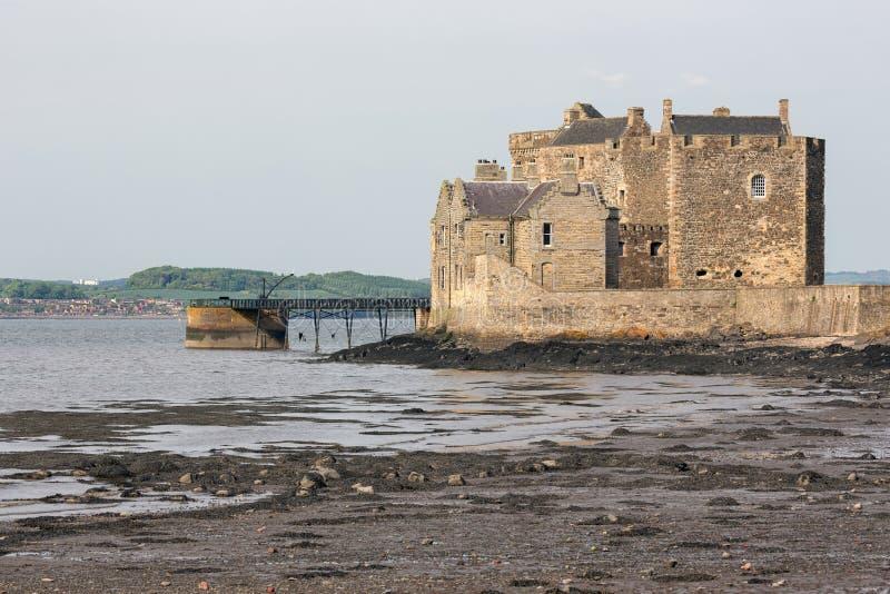 Czerń kasztel przy brzegowym Firth Sotland Naprzód wewnątrz obraz royalty free