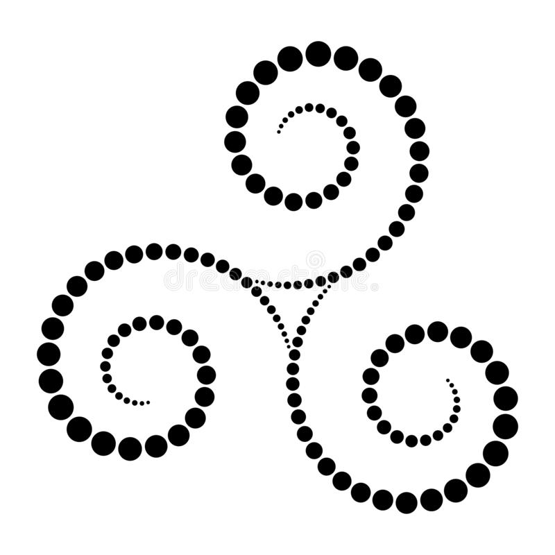 Czerń kropkująca celta triskelion spirala royalty ilustracja