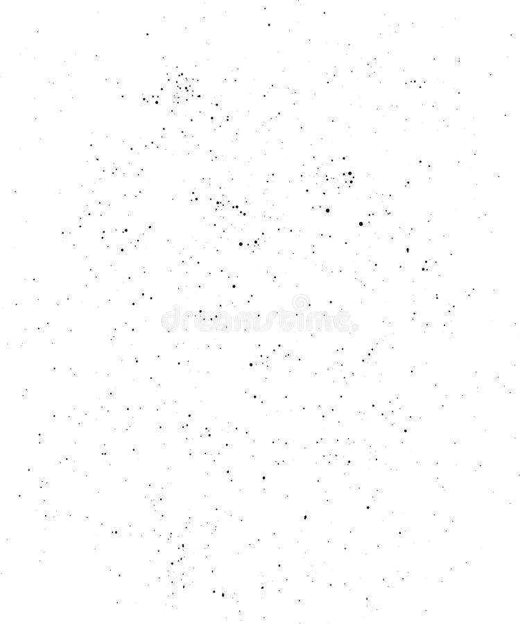 Czerń kropkuje teksturę odizolowywającą na bielu royalty ilustracja