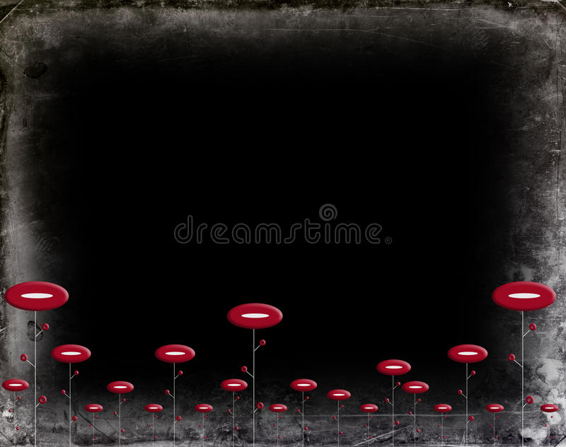 czerń kwitnie czerwień zdjęcie stock