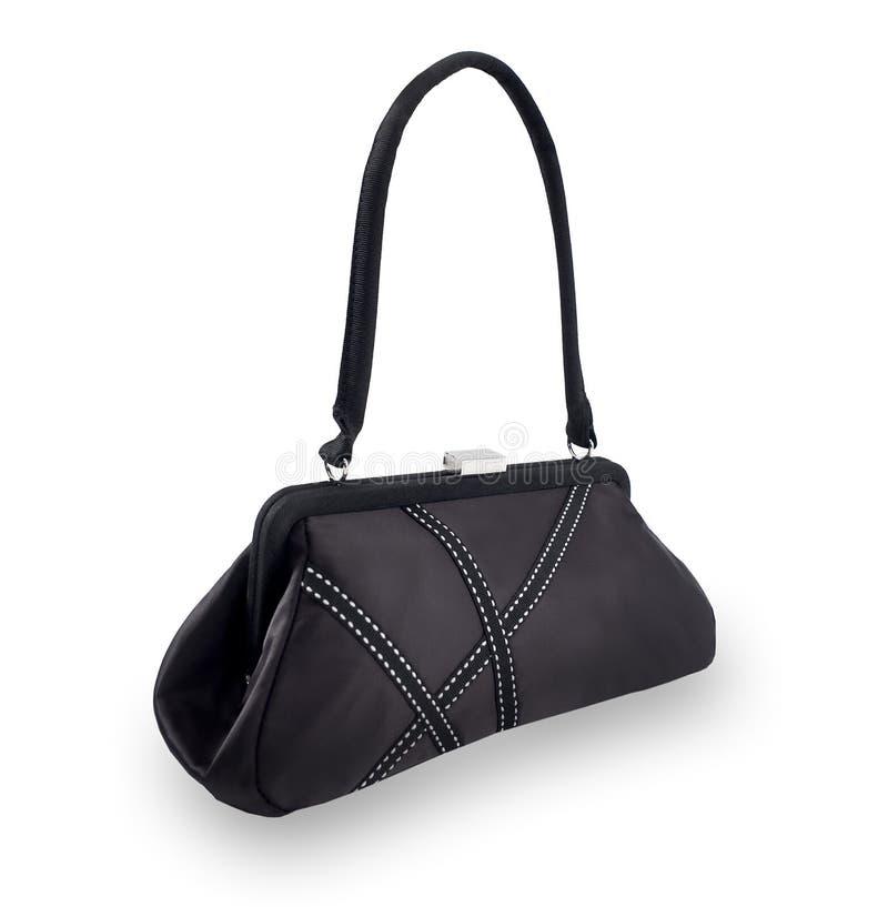 czerń odizolowywać damy purse biel zdjęcie stock