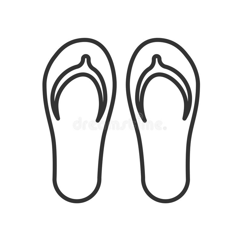 Czerń odizolowywał kontur ikonę klapek na białym tle Kreskowa ikona trzepnięcie klapa ilustracji