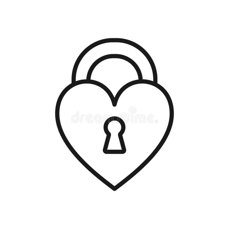 Czerń odizolowywająca kontur ikona kierowy kształta kędziorek na białym tle Kreskowa ikona zamknięty kierowy kształta kędziorek ilustracji