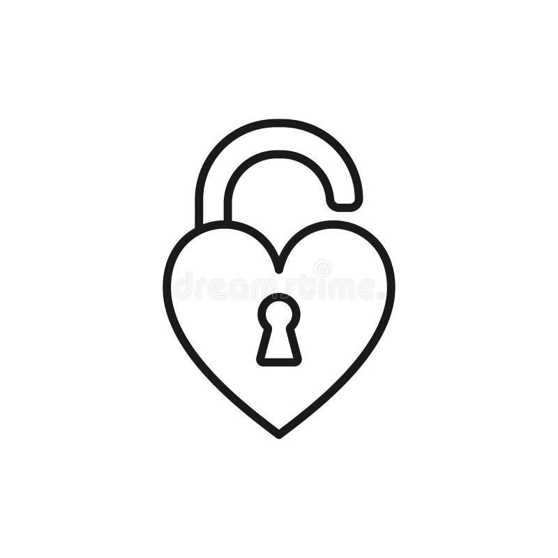 Czerń odizolowywająca kontur ikona otwierający kierowy kształta kędziorek na białej tło linii ikonie kierowy kształta kędziorek ilustracja wektor