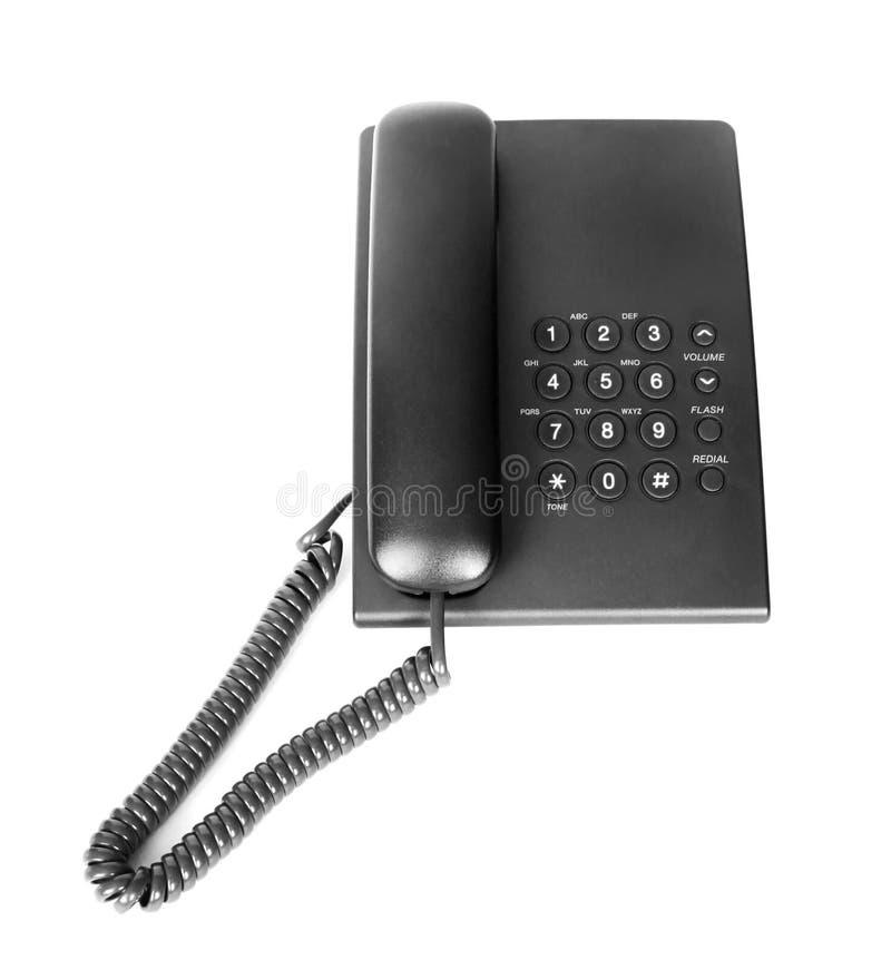 czerń odizolowywający biurowy telefon zdjęcie stock