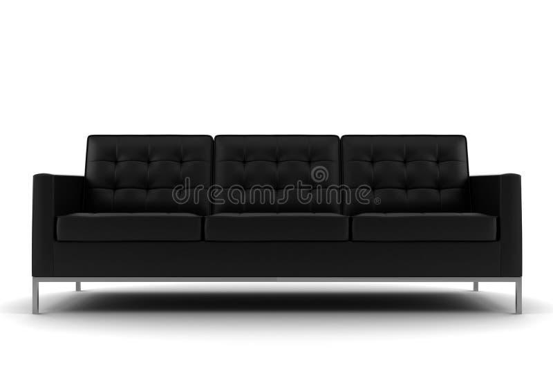 czerń odosobniony kanapy biel ilustracji
