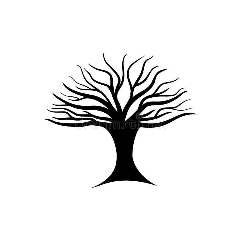 czerń opuszczać drzewa zdjęcie royalty free