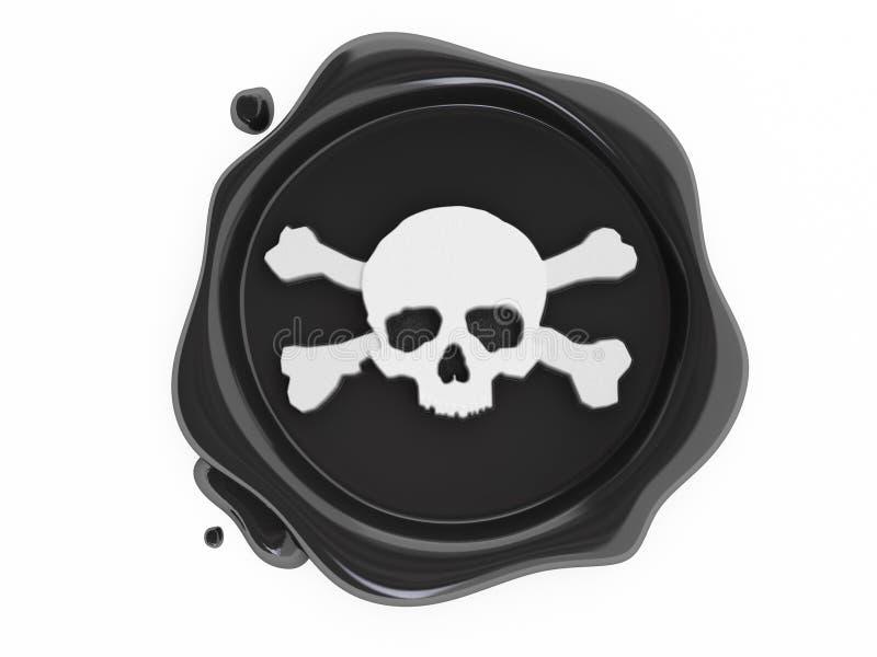 czerń piratów czaszek symbolu wosku biel ilustracji