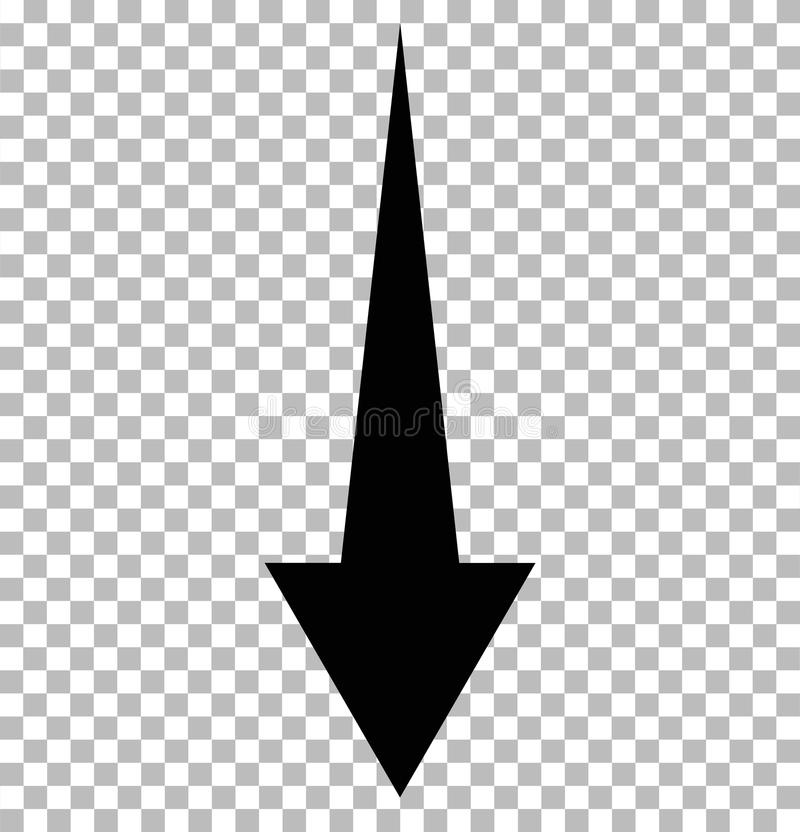 Czerń puszka strzała na przejrzystym strzałkowaty puszek royalty ilustracja