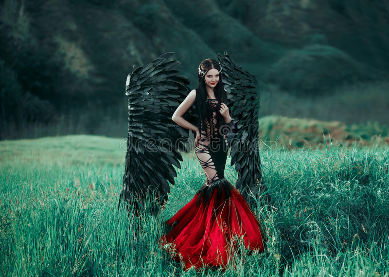 Czerń spadać anioł zdjęcie royalty free