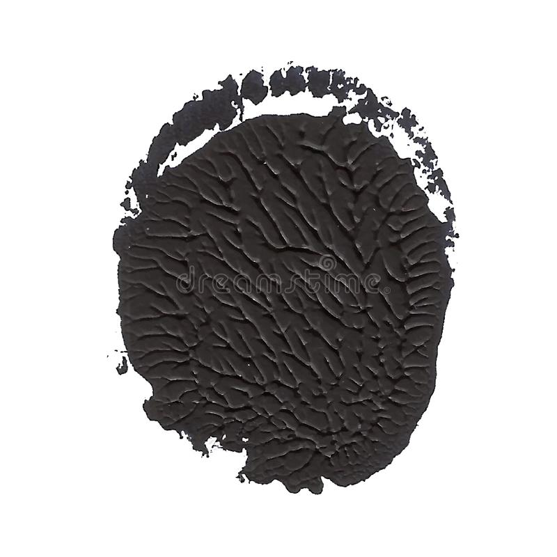 Czerń textured wokoło akrylowej farby abstrakcjonistycznego punktu royalty ilustracja