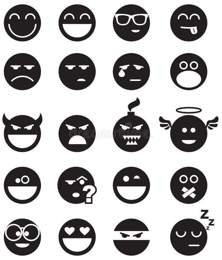 Czerń uśmiechy ilustracji