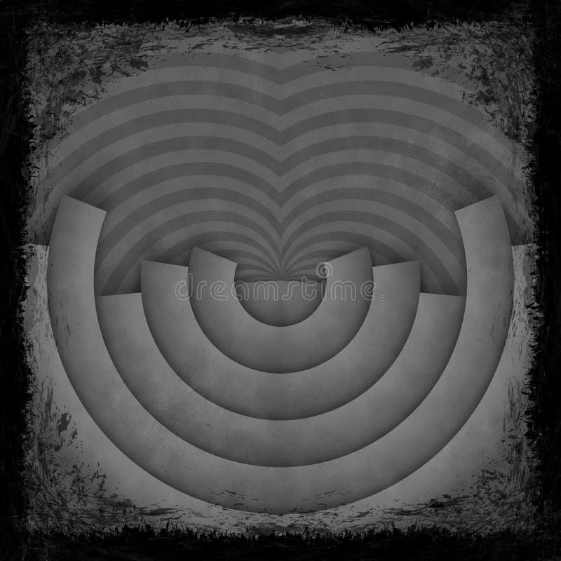 Czerń, zmrok, szary grunge ilustracja wektor