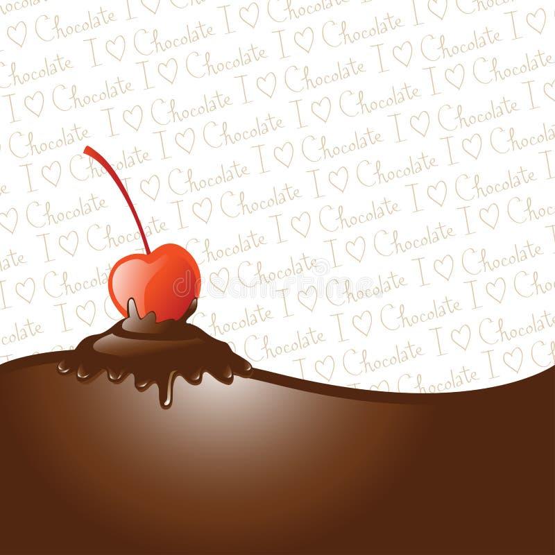czereśniowa czekolada zamaczał ilustracja wektor